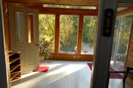 Sunroom and entry