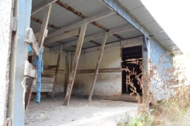 Interior of loafing shed