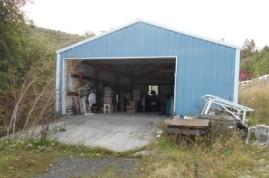 Driveway and garage/shop