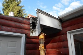 Rotted beam on NE corner of home over deck (does not appear structural)