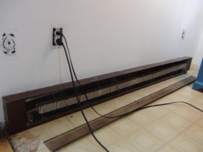 Ugly old electric baseboard heater